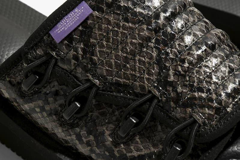 Nepenthes Suicoke Purple Label menswear streetwear shoes footwear slides sandals tabi elastic strap slide in split toe spring summer 2020 collection