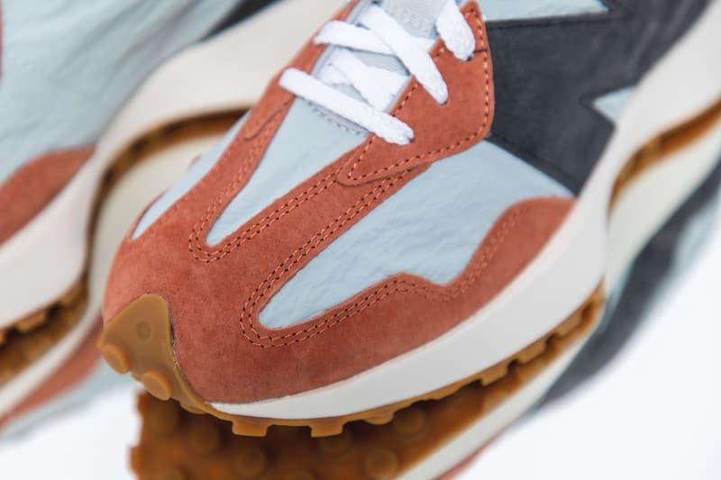 New Balance 327 Non-Split Blue Yellow Orange White Red Light Grey Navy Blue Gum Sole Unit Retro Runner Archive Sneaker Release Information Footwear NB Silhouette Closer Look HBX