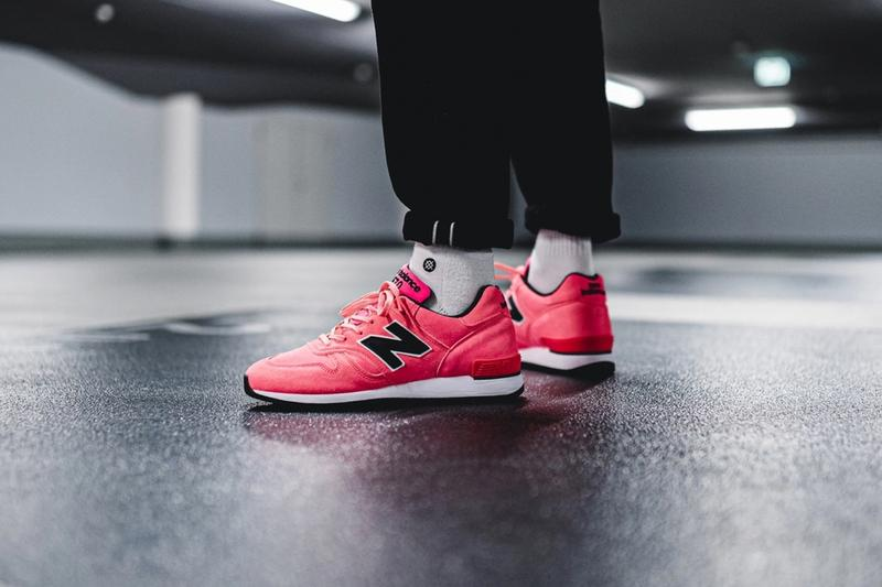 New Balance M670NEN Pink Neon menswear streetwear spring summer 2020 collection sneakers trainers shoes footwear runners kicks