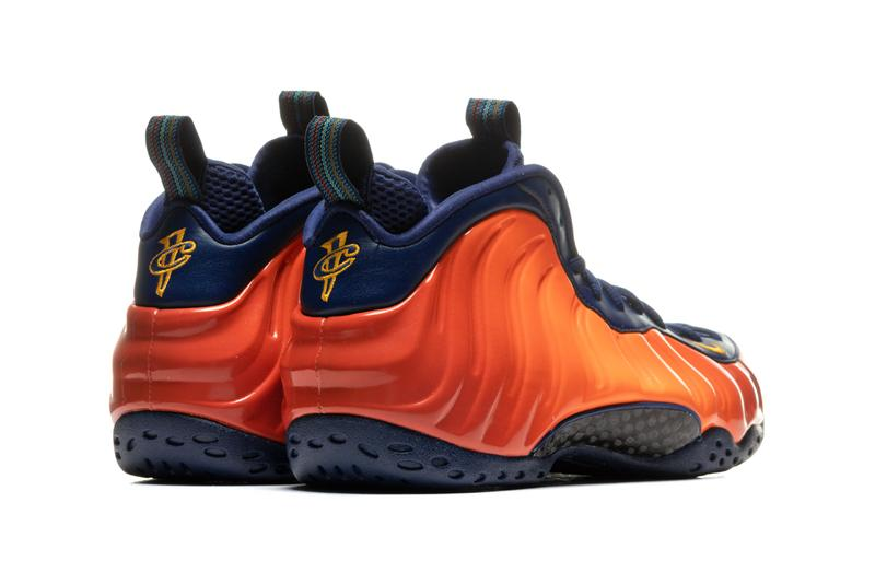 nike basketball sportswear air foamposite one rugged orange blue void university gold cj0303 400 official release date info photos price store list