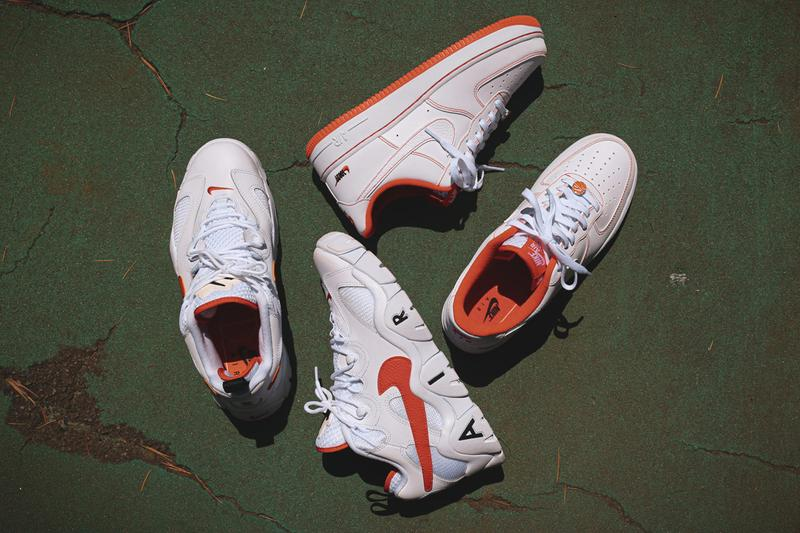 nike sportswear air force 1 low barrage rucker park harlem new york basketball court nyc CT2585 CJ5395 100 white black orange release date info photos price store list