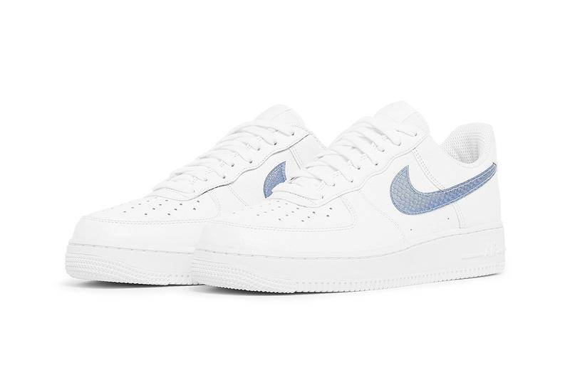 nike air force 1 white midnight turquoise club gold pony hair snakeskin cow print croc swooshes CW7567 100 101 release date info photos price