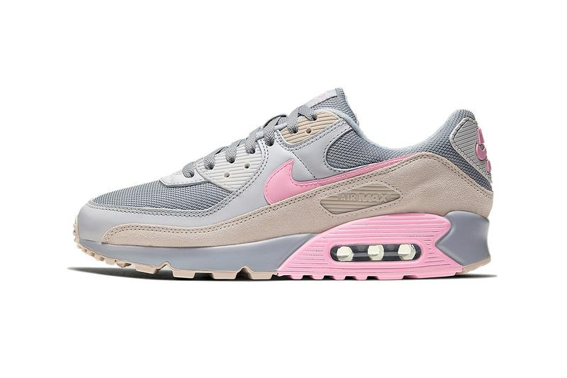 Nike Air Max 90 Vast Grey First Look Sneaker Release Information AM90 Grey Beige Pink Colorway OG Swoosh Air Bubble Anniversary Drop Date CW7483-001