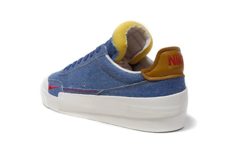Nike Drop Type LX Denim Release Info cw6213-461 N.354 INDUSTRIAL BLUE HABANERO RED SAIL HONEY COMB