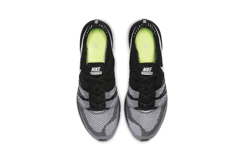 "Nike Flyknit Trainer ""Black/White"" OG Zoom Air Running Sneaker Footwear Swoosh Sneaker Release Information 2012 Retro Re-Release Volt Insoles"