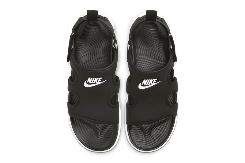 Nike Owaysis Triple Black black white spring summer 2020 collection menswear streetwear active sportswear swoosh sandals slides footwear CT5545 002 outdoor trek hiking