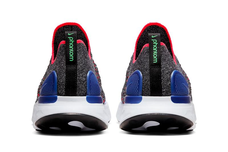 nike react phantom run flyknit 2 black orbit red sparkle green white blue CJ0277 002 release date info photos price