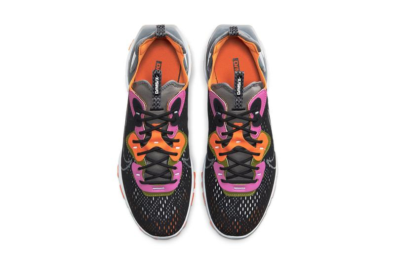 nike sportswear dmsx react vision black asparagus orange grey fuchsia white release date info photos price