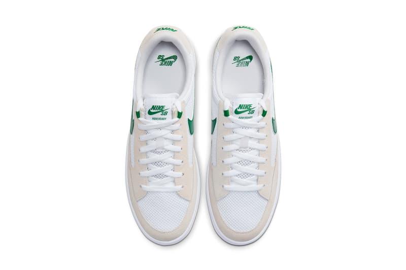 nike sb skateboarding adversary tennis shoe white pine green photo blue midnight navy university red black CJ0887 102 103 400 100 release date info photos price store list