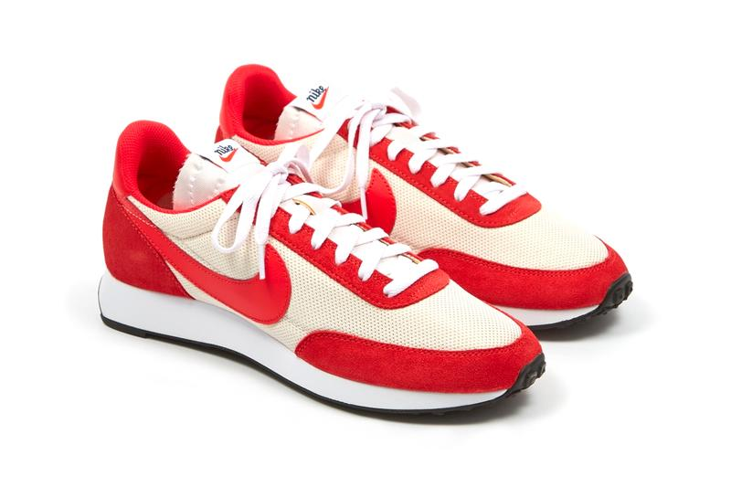 Nike Tailwind 79 OG Track Red menswear streetwear shoes sneakers footwear trainers runners retro spring summer 2020 collection sail white swoosh leather vintage retro throwback