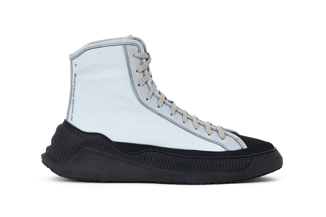 oamc luke meier free solo sneaker high low top black mist blue off white release details hiking mountaineering release information buy cop purchase LN-CC