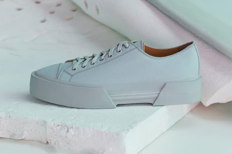 OAMC Inflate Plimsoll Off White pale yellow mist black menswear streetwear spring summer 2020 collection shoes sneakers footwear kicks trainers runners luke meier