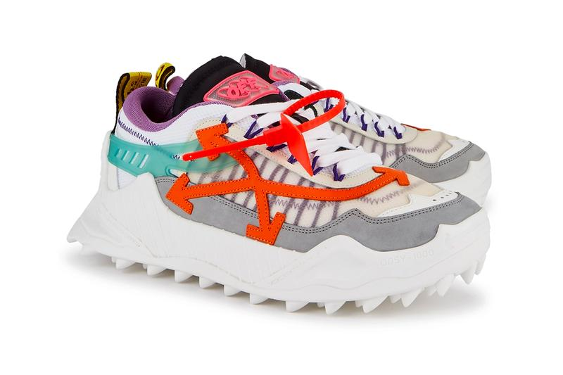 Off-White™ ODSY 1000 menswear streetwear sneakers shoes trainers runners kicks spring summer 2020 collection virgil abloh designer co white