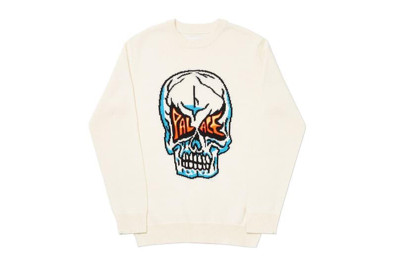 Palace Summer 2020 Knits knitwear sweater weather skull flaming logo dello Sportivo