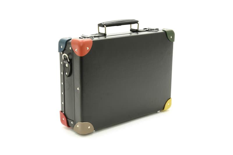 paul smith for globe trotter 14 inch mini attache briefcase case suitcase black multi