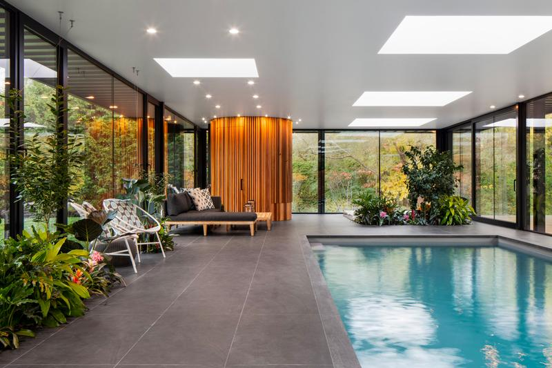 Maurice Martel Architecte Glass Pool House Info homes Philip Johnson Ben Rose Montreal Canada architecture homes pool style design