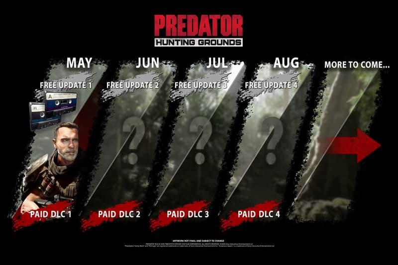 Arnold Schwarzenegger Dutch Predator Hunting Grounds DLC pack first person shooter QR5 Hammerhead Rifle Knife