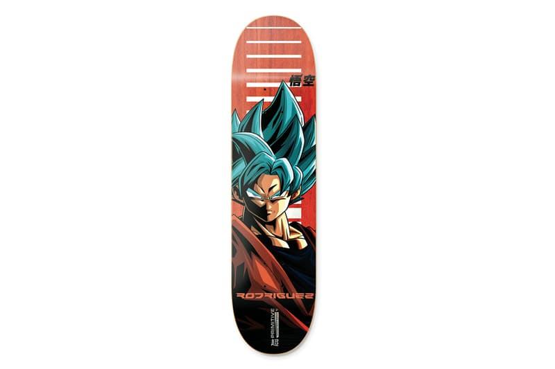 Primitive Skateboarding x Dragon Ball Super Collection release SSJ super saiyan blue Goku Frieza Golden Vegeta Android 17 18 Z fighters anime Skateboarding hoodies skate decks