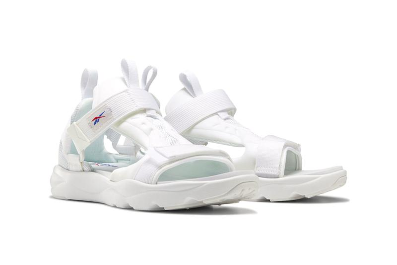 Reebok Furylite Sandals Release Information First Look Summer Footwear Shoes Black / white / blaze berry White / Primal Red / Crushed CobaltSkull gray / white / pixel pink Nylon 3D Ultralite Instapump Fury DNA