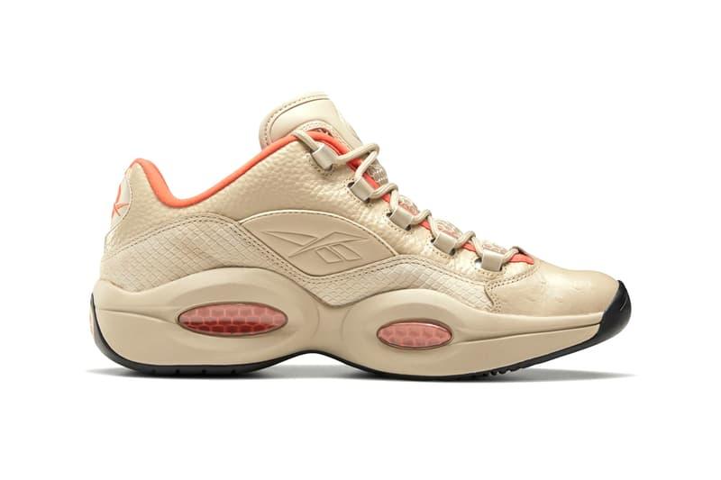 Reebok Question Low Modern Beige Vivid Orange black EF3151 menswear streetwear spring summer 2020 collection sneakers runners trainers kicks footwear shoes