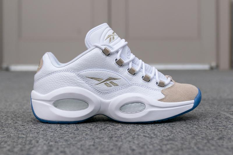 reebok question low oatmeal white blue light sand allen iverson EF7609 release date info photos price