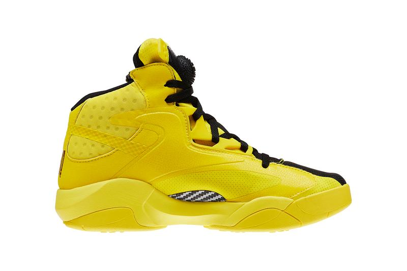 BD4602 reebok shaq attaq shaquille oneal bruce lee yellow black modern colorway basketball sneakers shoes