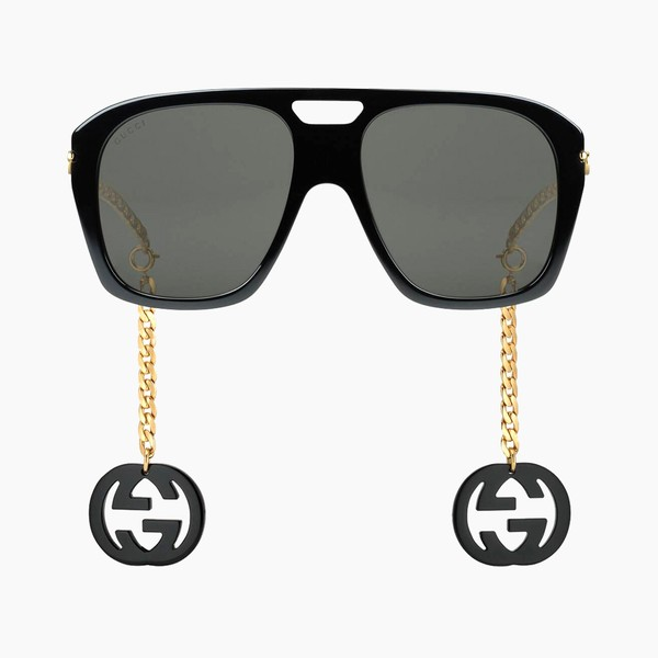 Gucci Square Sunglasses With Charms