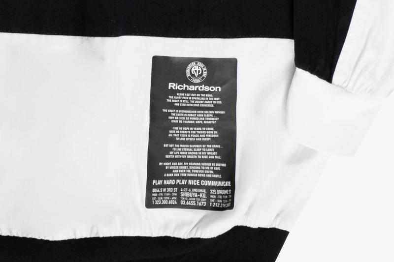 "Richardson Summer 2020 Capsule Collection ""I Go Out On The Road Alone"" 19th Century Russian poet Mikhail Yuryevich Lermontov R Glyph logo Asymmetrical Crewneck Cargo Pants RH Mesh Tanktop Shorts Basketball Pinnies"