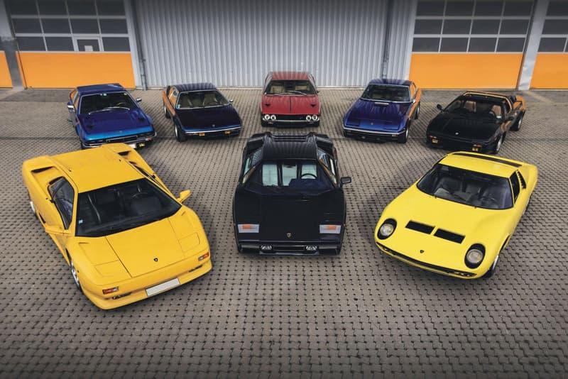 RM Sotheby's Marcel Petitjean Collection Car Auction sale vintage porsche tractor Lamborghini jaguar mercedes benz 1981 DeLorean DMC-12, a 1968 Lamborghini Miura, a 1988 Porsche 911 Turbo, and a 1958 Mercedes-Benz 300SL Roadster