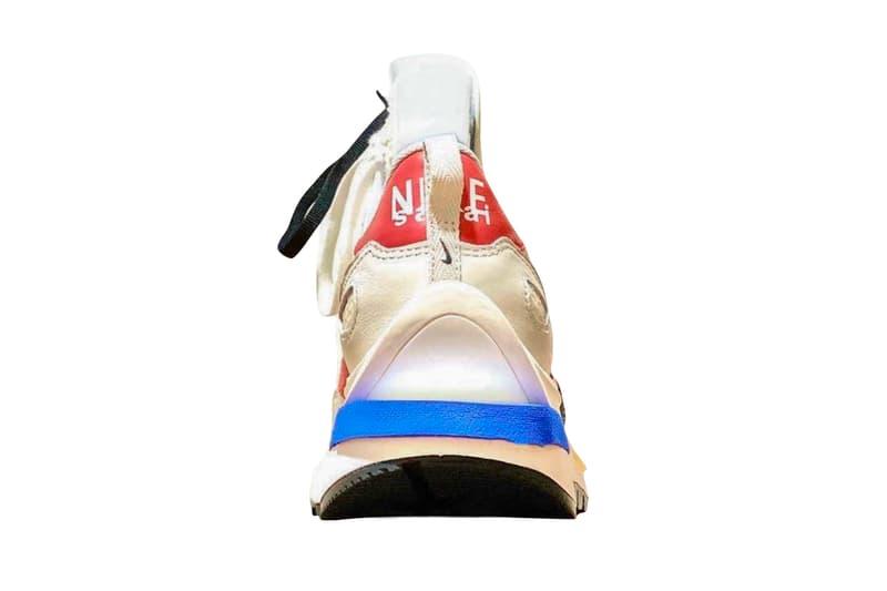 sacai Nike Vaporwaffle First Look Sail Light Bone Game Royal Sport Fuchsia Release info Date Buy Price