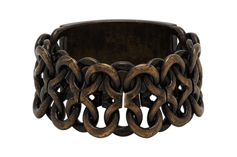 Saint Laurent Silver Bronze Plaguette Ring Release 201418M147295 201418M147293 ssense accesory