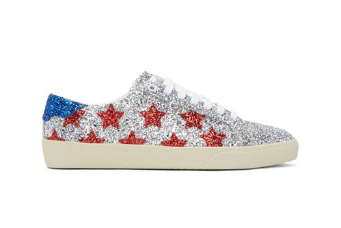 Saint Laurent Unveils Glittery Court Classic Sneaker in Patriotic Colorway