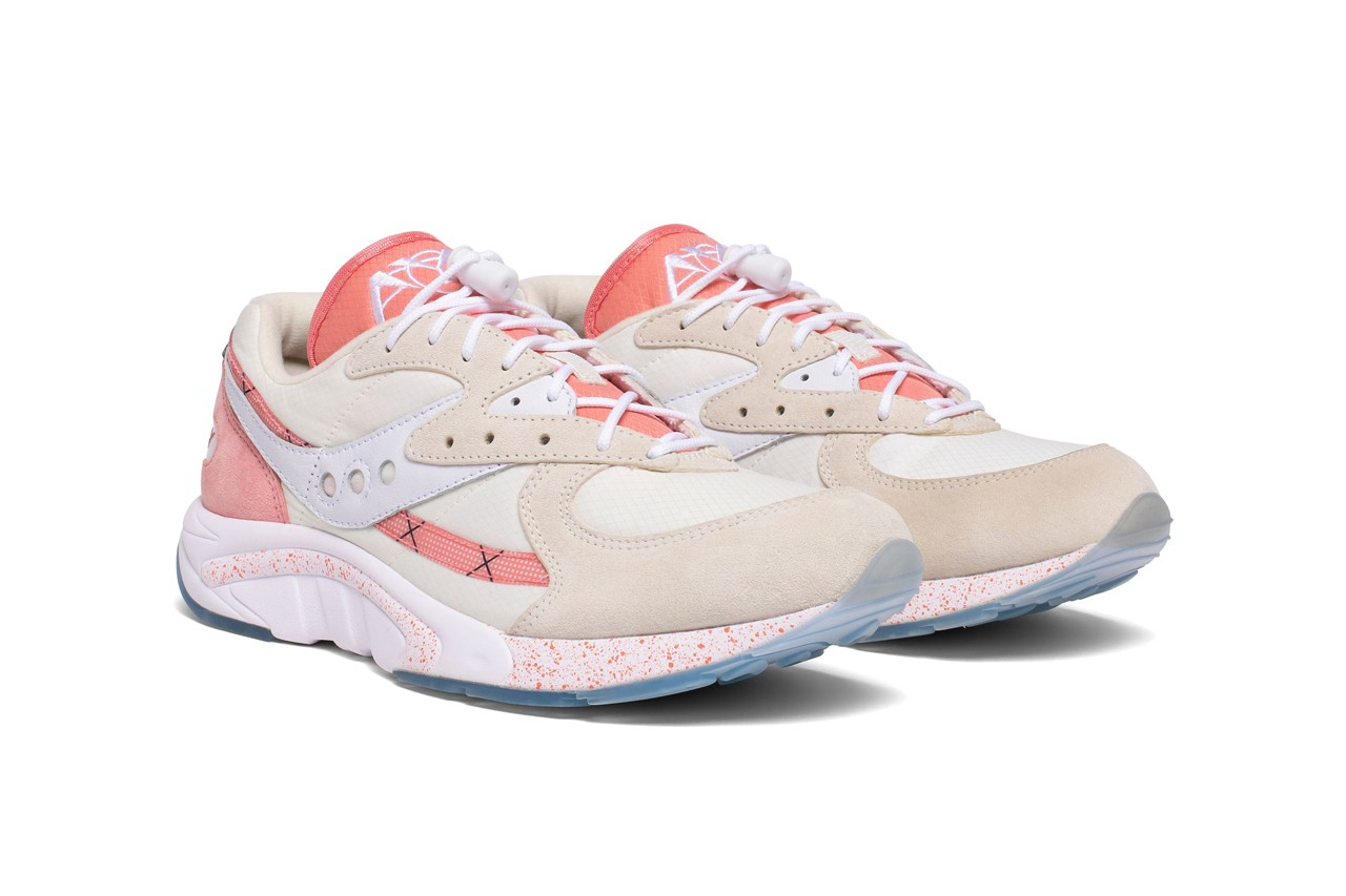 saucony aya peaches and cream orange white blue tan release date info photos price