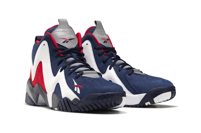 Shawn Kemp Reebok Kamikaze II Vector Navy White Vector Red FV9295 menswear streetwear shoes sneakers trainers runners basketball court spring summer 2020 collection