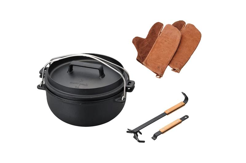 Snow Peak Takibi Cooking Set Releasee Info fire and grill cast iron oven 26cm lifter pro set gloves camper's mitten
