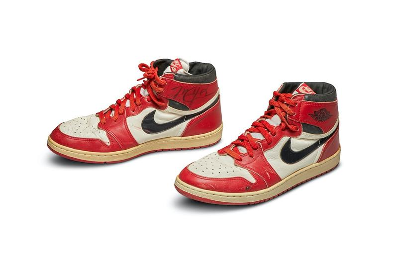 Sotheby's Air Jordan 1 Record Auction Price Record at $560,000 USD autographed sports memorabilia Michael Jordan Jordan Brand Sneakers Shoes collectibles