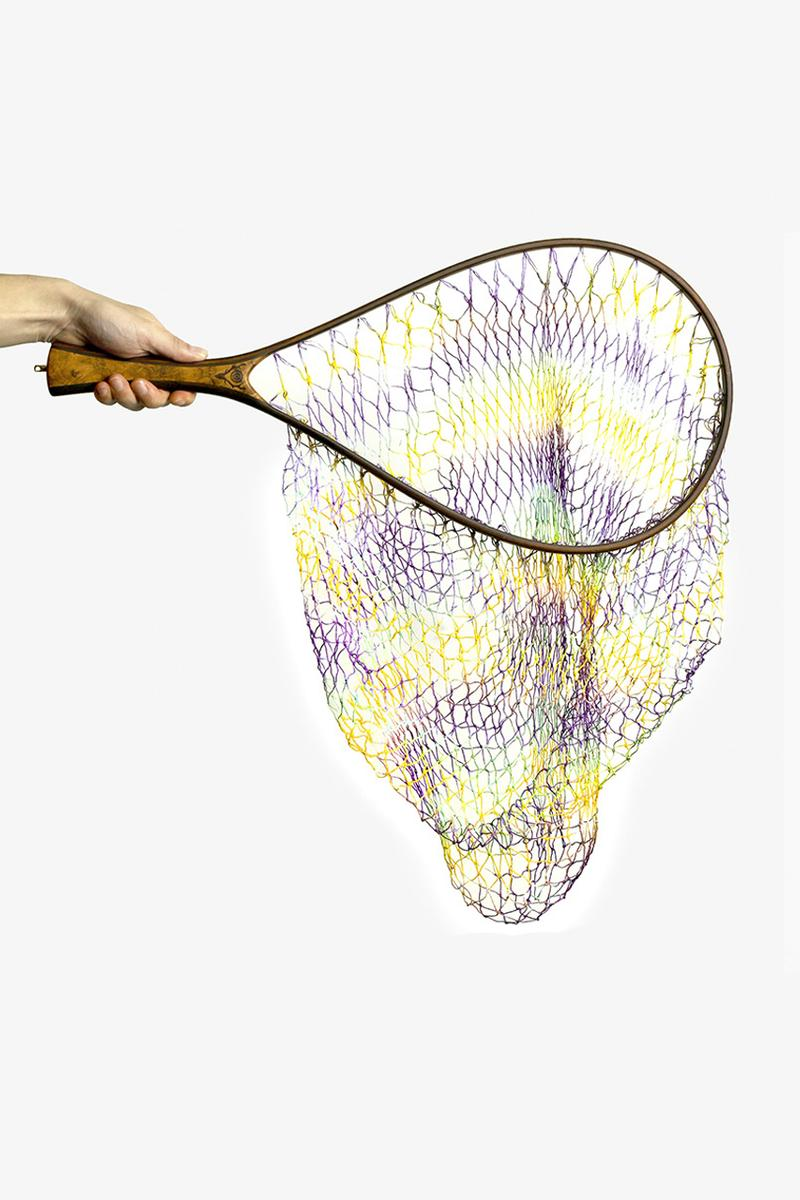 South2 West8 HANDMADE TIE DYE LANDING NET STRAIGHT STAG GRIP menswear streetwear nepenthes japan japanese keizo shimizu spring summer 2020 collection sports outdoor