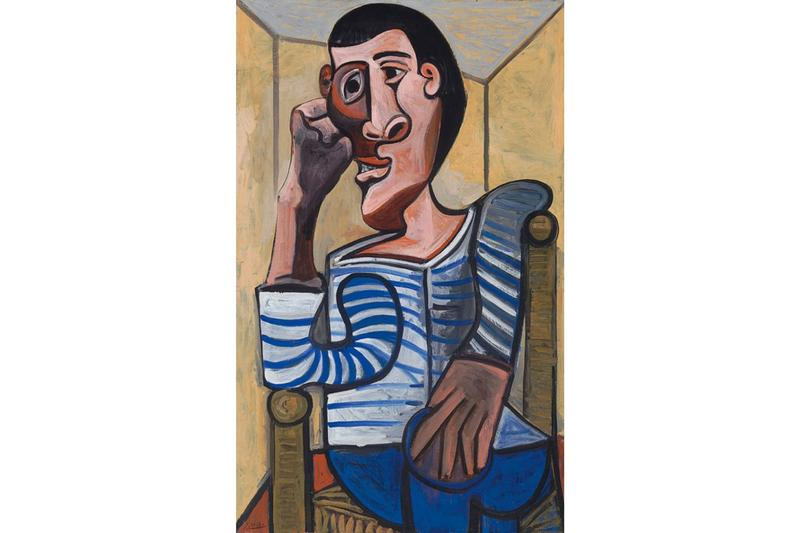 Painter Tears Hole in Pablo Picasso Painting Christie's 'Le Marin' (1943)