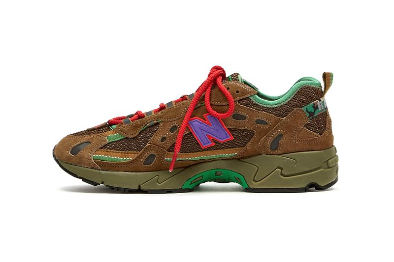 Stray Rats x New Balance 827 Release Information Drop Date Closer Look Goodhood Stockists Collaboration Sneaker Footwear Retro Chunky Brown Suede Camouflage Julian Consuegra ABZORB 3M