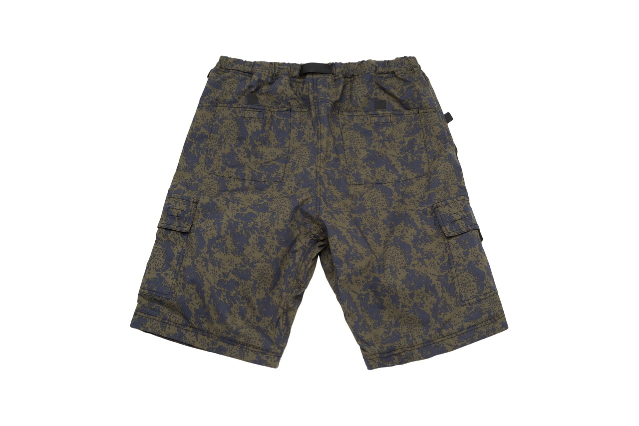 stussy gramicci zip off cargo pants collaboration release collection outdoor brand patented gusset crotch built in nylon belt hiking skating