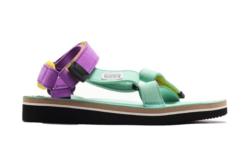 suicoke japanese sandals tan mint atmos tokyo drop