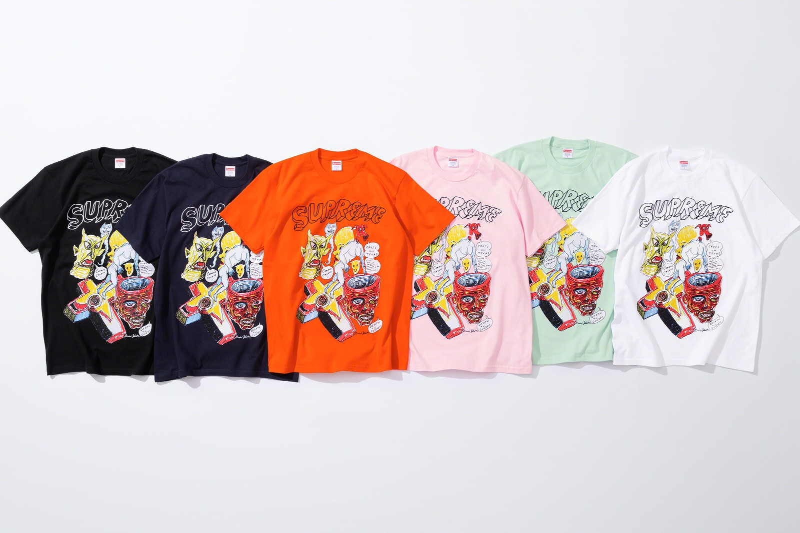 Supreme Daniel Johnston Spring 2020 collection Drop release info lofi music American songwriter Embroidered Work rayon shirt frog Jeremiah the Innocent
