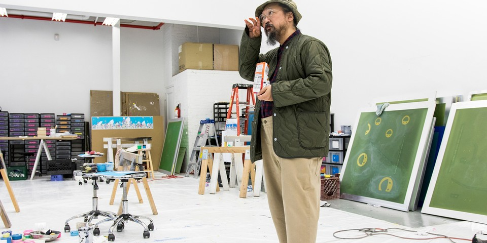 Watch Takashi Murakami Create Flower Prints and Calligraphy Using Recycled Coffee Filters