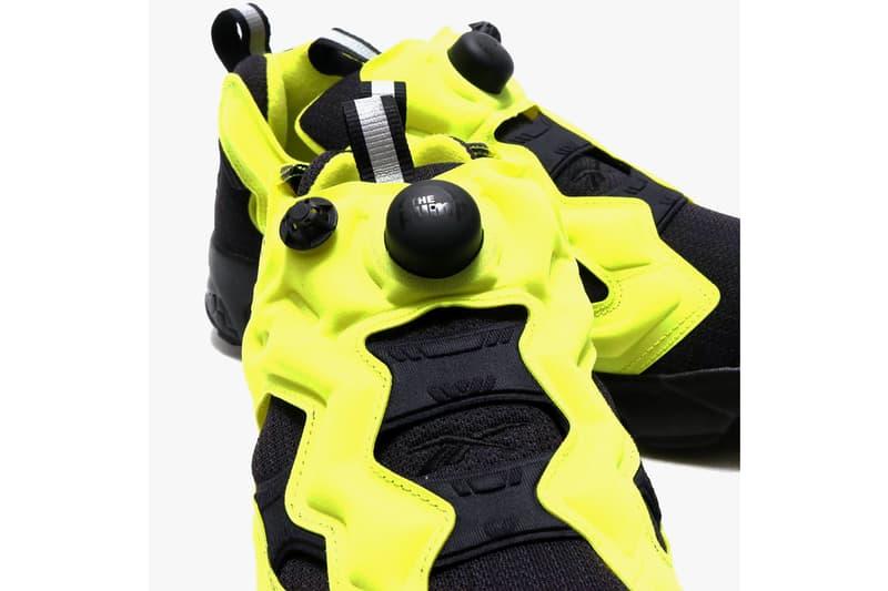 Takuya Kamioka reebok instapump fury fx4261 black hyper green volt yellow release date info photos price