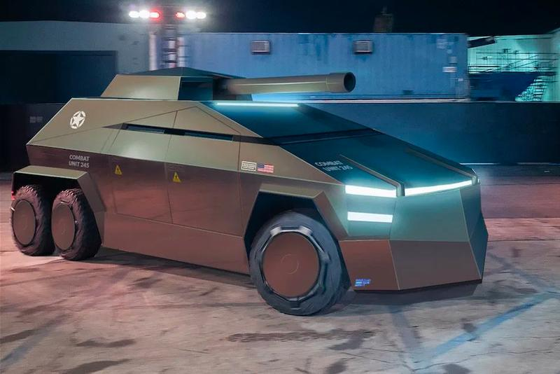 Tesla Cybertruck Electric Military Electric Future Renders Military EV Electric Vechicles post-apocalyptic elon Musk