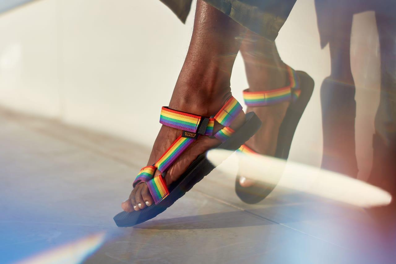 Teva LGBTQ+ Pride Month Rainbow Sandal