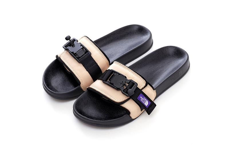 THE NORTH FACE PURPLE LABEL Knit Leather Sandals TNF Slippers Slides