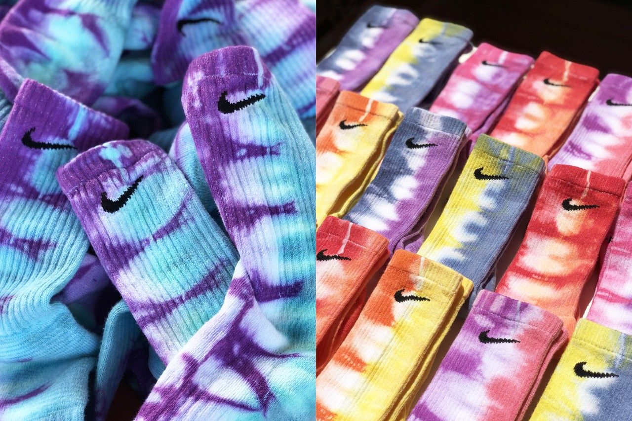 How To Tie Dye tiedye Nike Socks With Sammy Jo sock sammantha alonso fruition las vegas video step by step guide