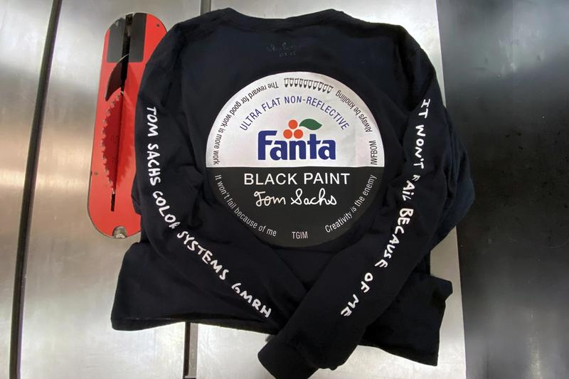 tom sachs fanta black long sleeve tee shirt clothing apparel style fashion