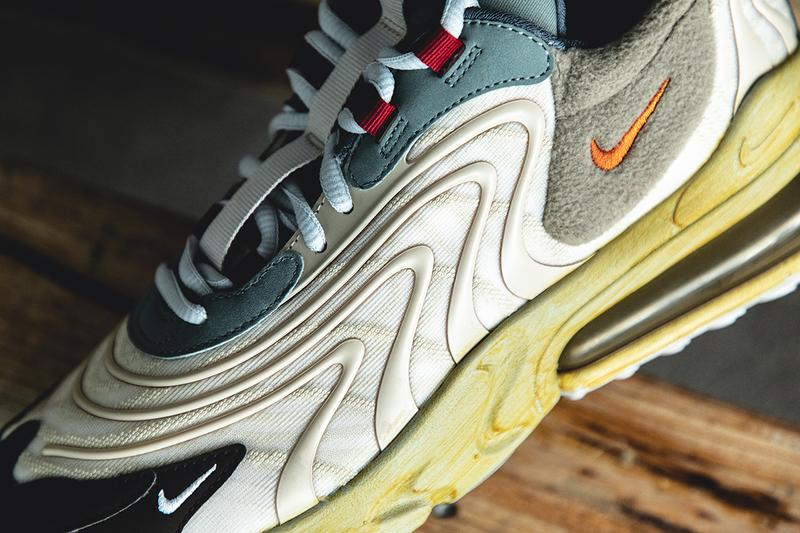 Travis Scott x Nike Air Max 270 React Cactus Trail Closer Look Release Information Editorial Photoshoot HYPEBEAST Limited Edition La Flame Sulphur Dye Polar Fleece